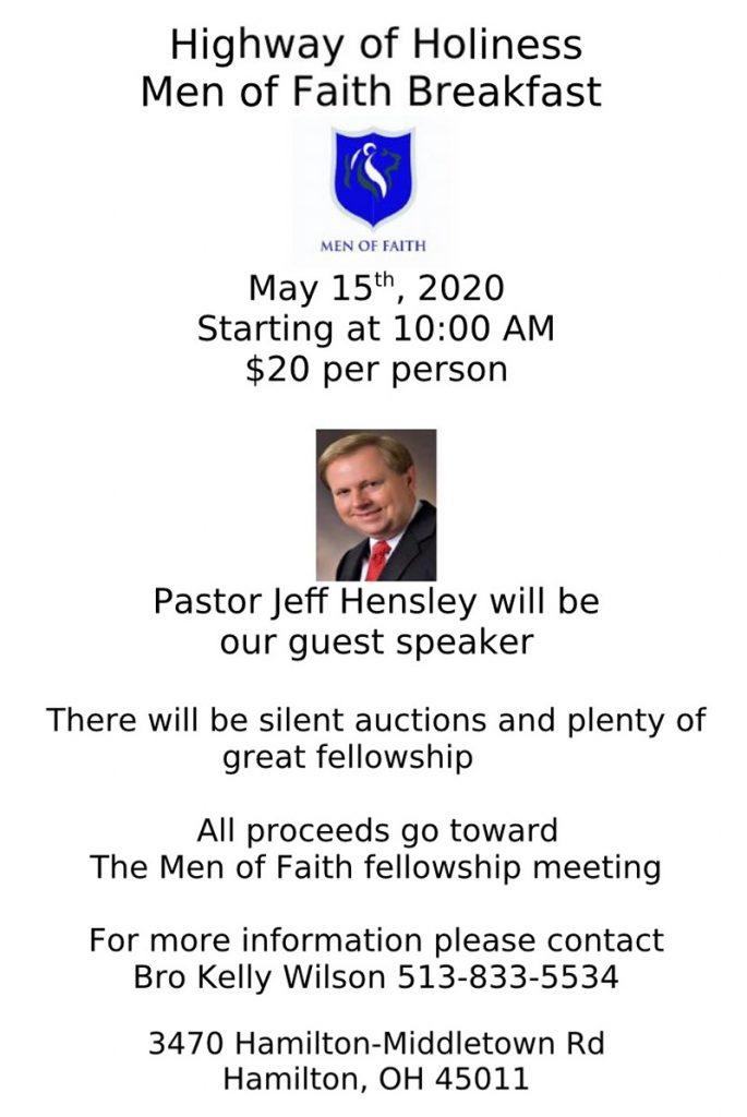 Men of Faith Breakfast Fundraiser
